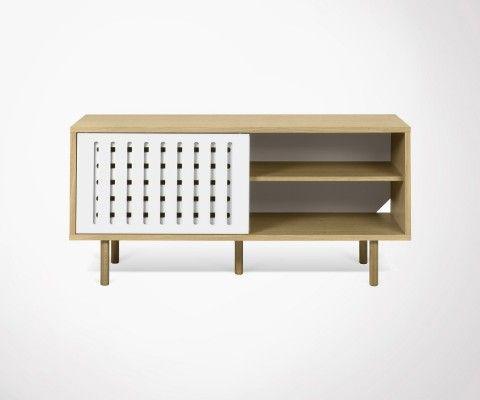 Enfilade design DANN STRIPES chêne - 135cm