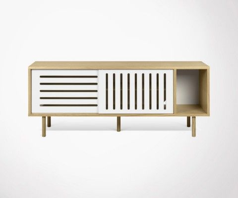 DANN STRIPES large scandinave 165cm sideboard