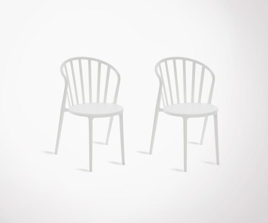 Lot 2 chaises design plastiques ANDYL