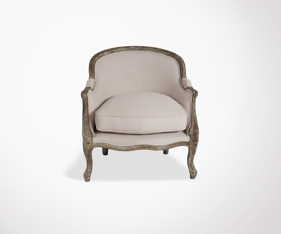 Fauteuil club BERGERE style baroque