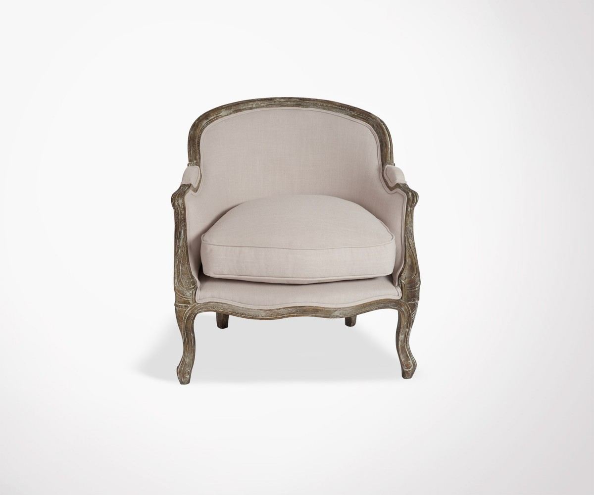 Baroque style design armchair 18th century inspired by J Line