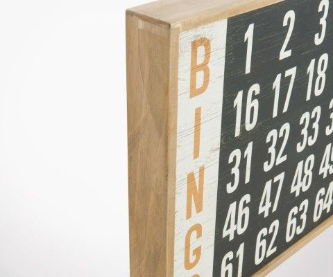 Natural wood bingo board BINGO - 152 cm