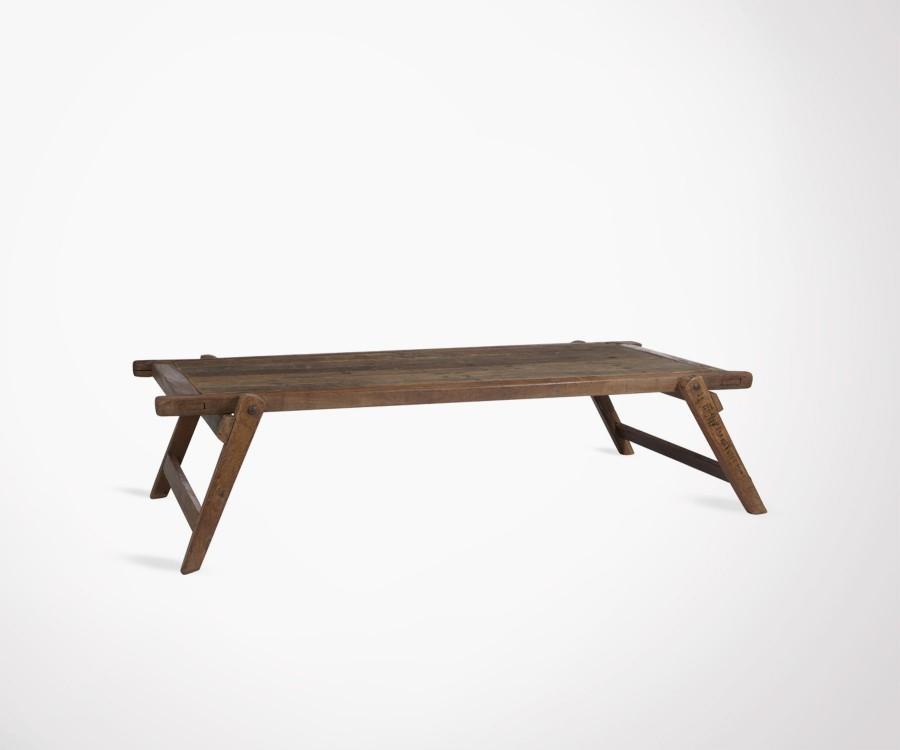Table basse inspirée lit militaire BRANKAR - 175 cm