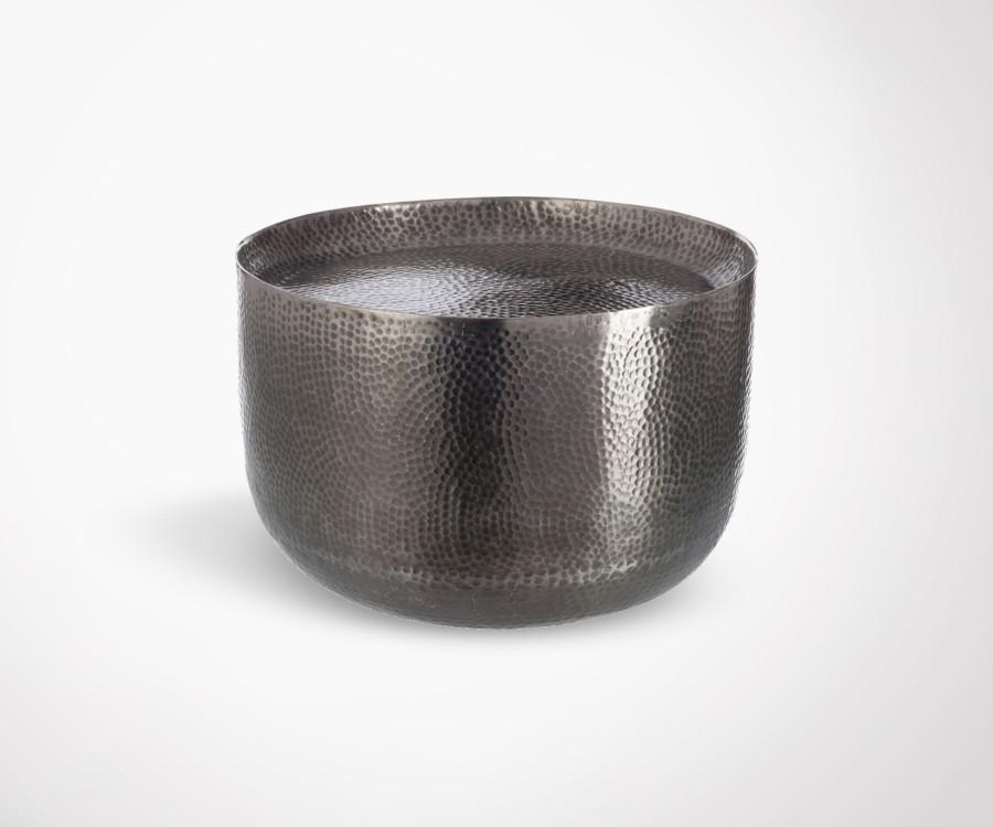 Petite table basse ronde aluminium gris CUPOP - 50 cm