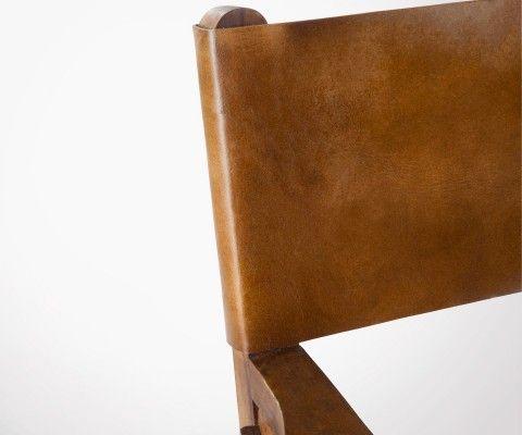 Chaise de réalisateur pliable cuir cognac DIRECTOR