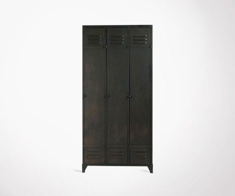 Wardrobe with 3 doors metal DROPIN