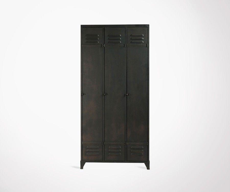 Armoire métallique 3 portes style locker DROPIN