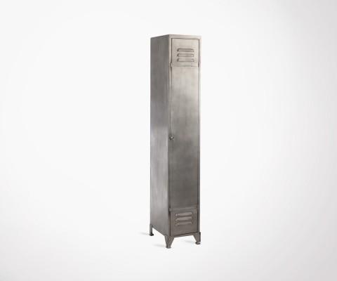 Casier locker métal gris foncé DROPIN - 175 cm
