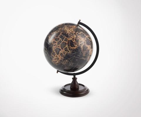 GLOBAL black globe on stand - 45 cm