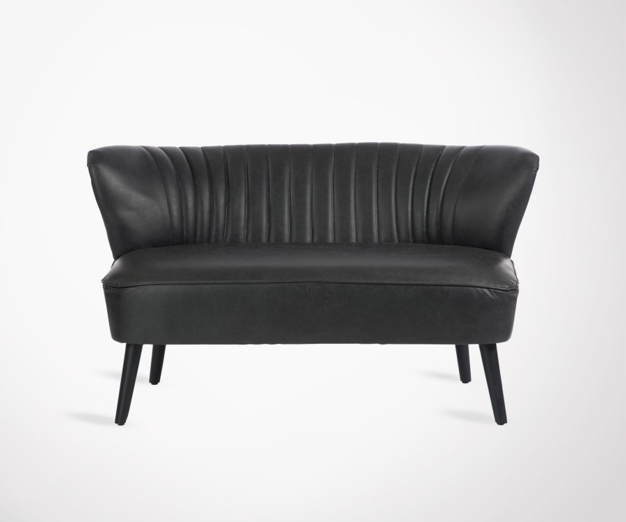 Grand fauteuil club 2 places simili cuir JAZZ