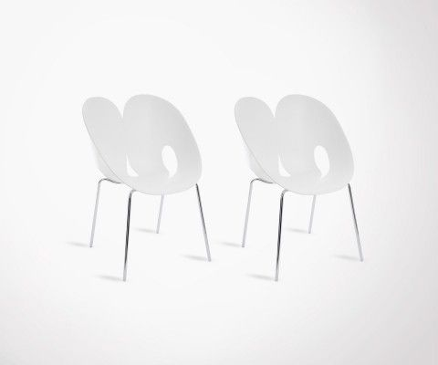 Set of 2 design dining chairs JENGA