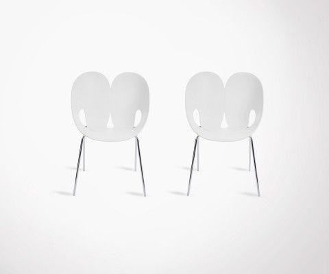 Lot 2 chaises salle à manger JENGA