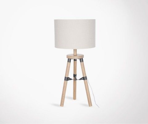 Natural wood table lamp PIEDA - 52 cm