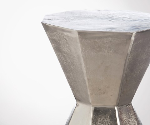 Tabouret de table aluminium brut POLYGONE
