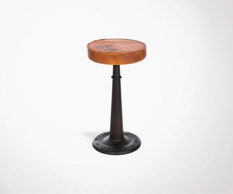 Chaise de bar 60cm industrielle en métal POTERI