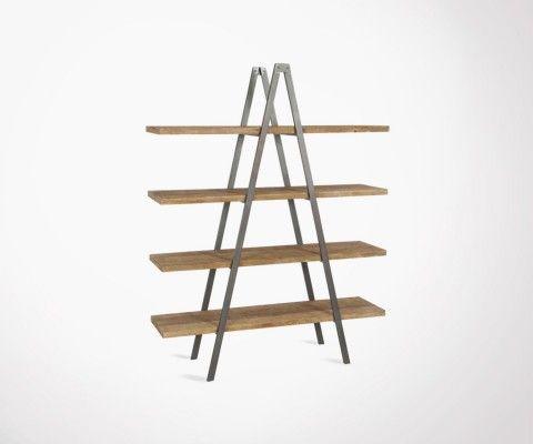 J Metal Shelf Pyramid Wood Industrial Line Solid Design And CoexBd