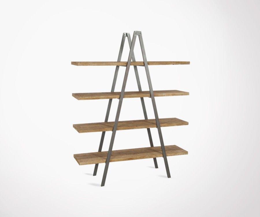 Pyramid Metal And Solid Wood Shelf Industrial Design J Line