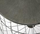 Lot 2 tables gigognes métal plateau amovible QUIZEN