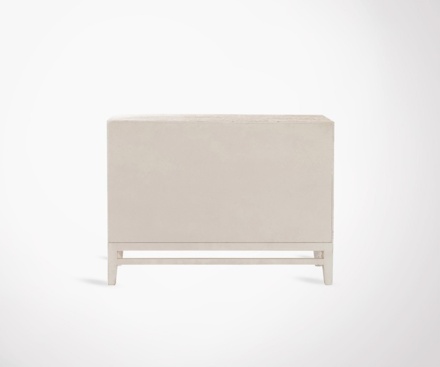 Buffet bois 2 portes style bohemian SARIAN - 120 cm