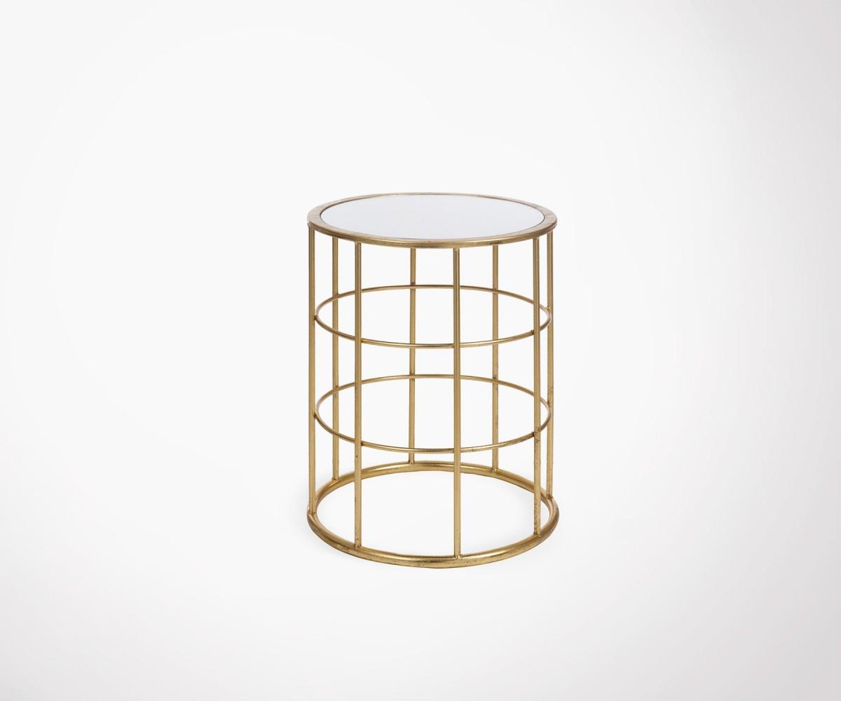 Table d 39 appoint m tallique dor e style art d co par j line - Table d appoint dore ...