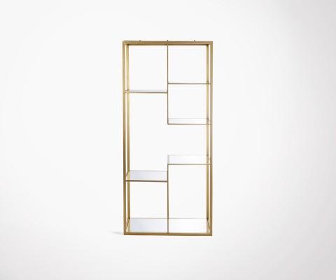 Grande étagère 4 étages métal doré style art déco SATURNE - 177 cm