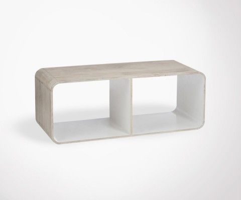 Table basse amovible bois naturel TEVE