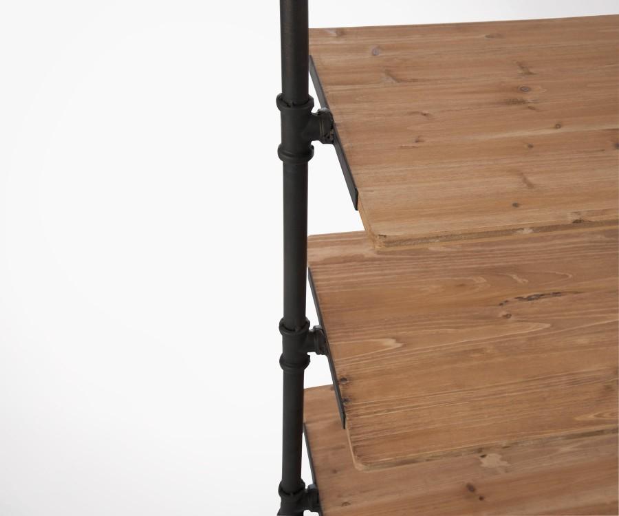 Etagère à fixer avec tirroirs paniers style industriel WAQS - 174 cm