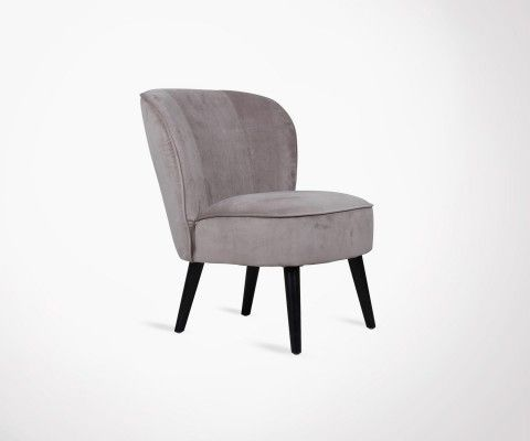 Fauteuil cocktail velours BRANDY