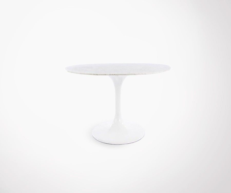 Marble oval top FLOWER dining table - 170cm