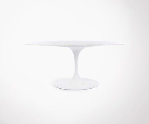 Grande table marbre ovale FLOWER 170x110cm