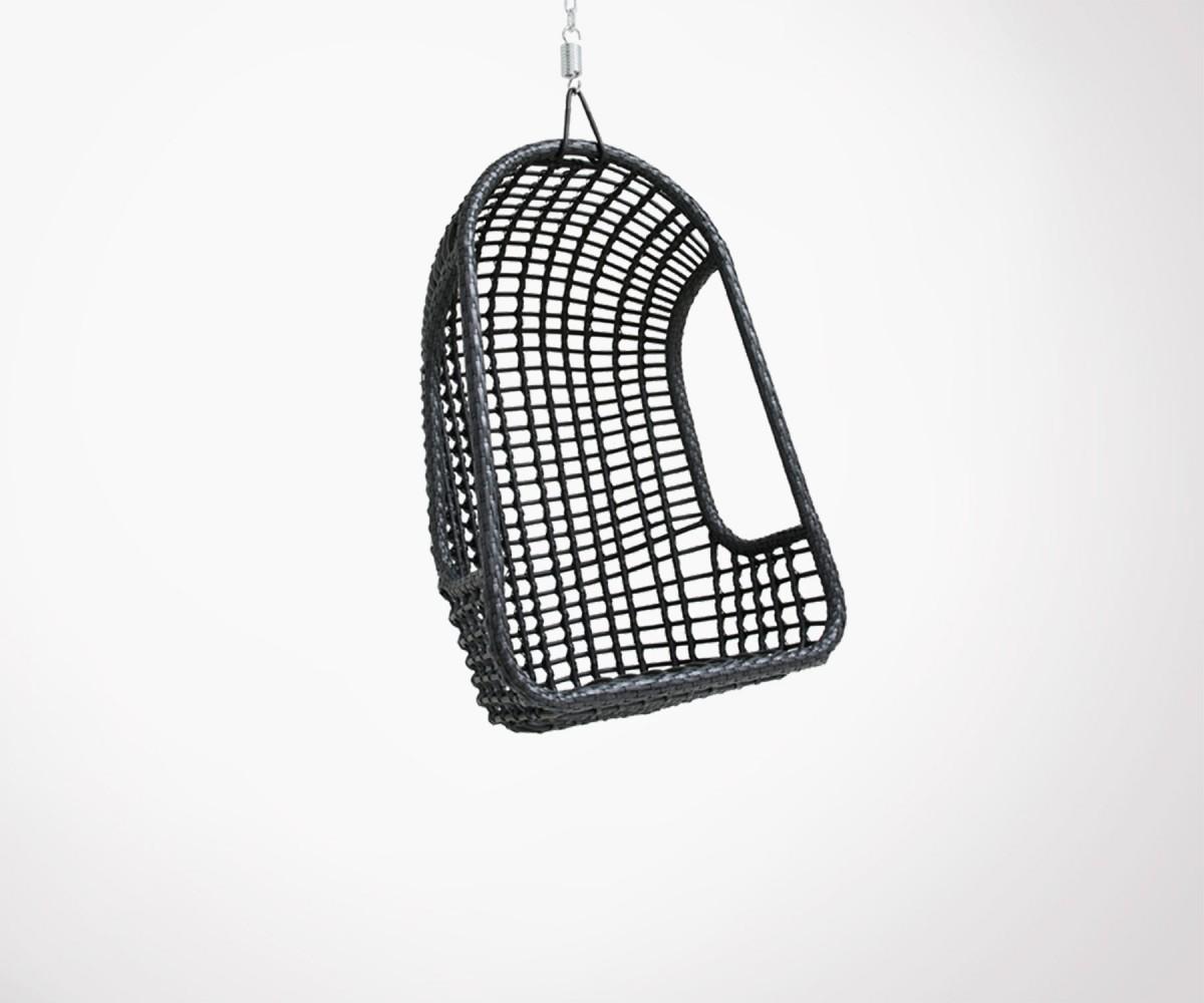 fauteuil suspendu ext rieur design en rotin noir v ritable hk living. Black Bedroom Furniture Sets. Home Design Ideas