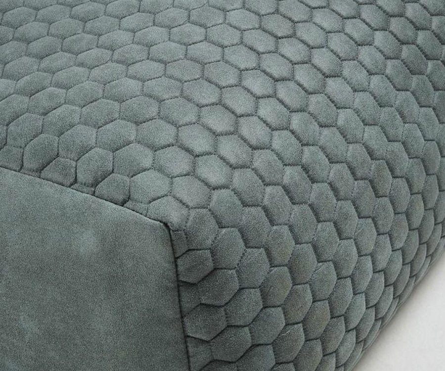 Pouf 60x60cm tissu rembourré DAMA