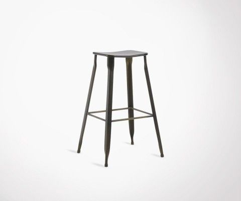 Graphite metal stool 76cm GATZ