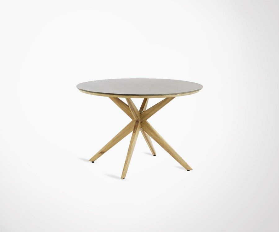 Table ronde 120cm eucalyptus naturel GLOWA