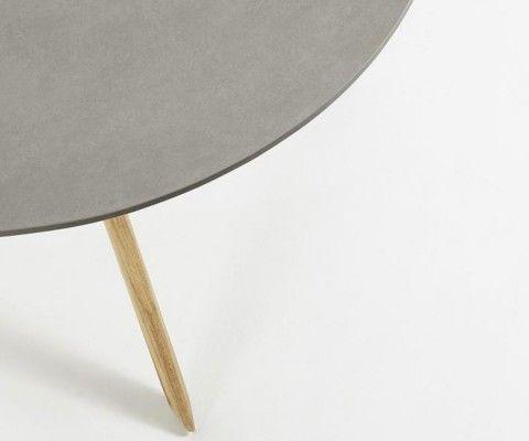Table ronde 120cm eucalyptus naturel GLOWA