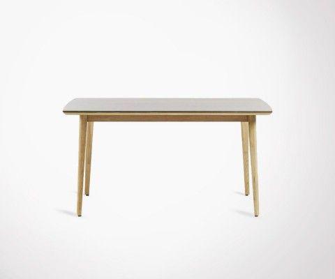 Table 160x90cm eucalyptus naturel KHLEA