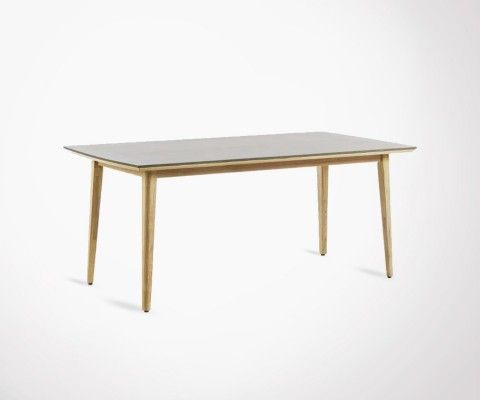 Table 200x100cm eucalyptus naturel KHLEA