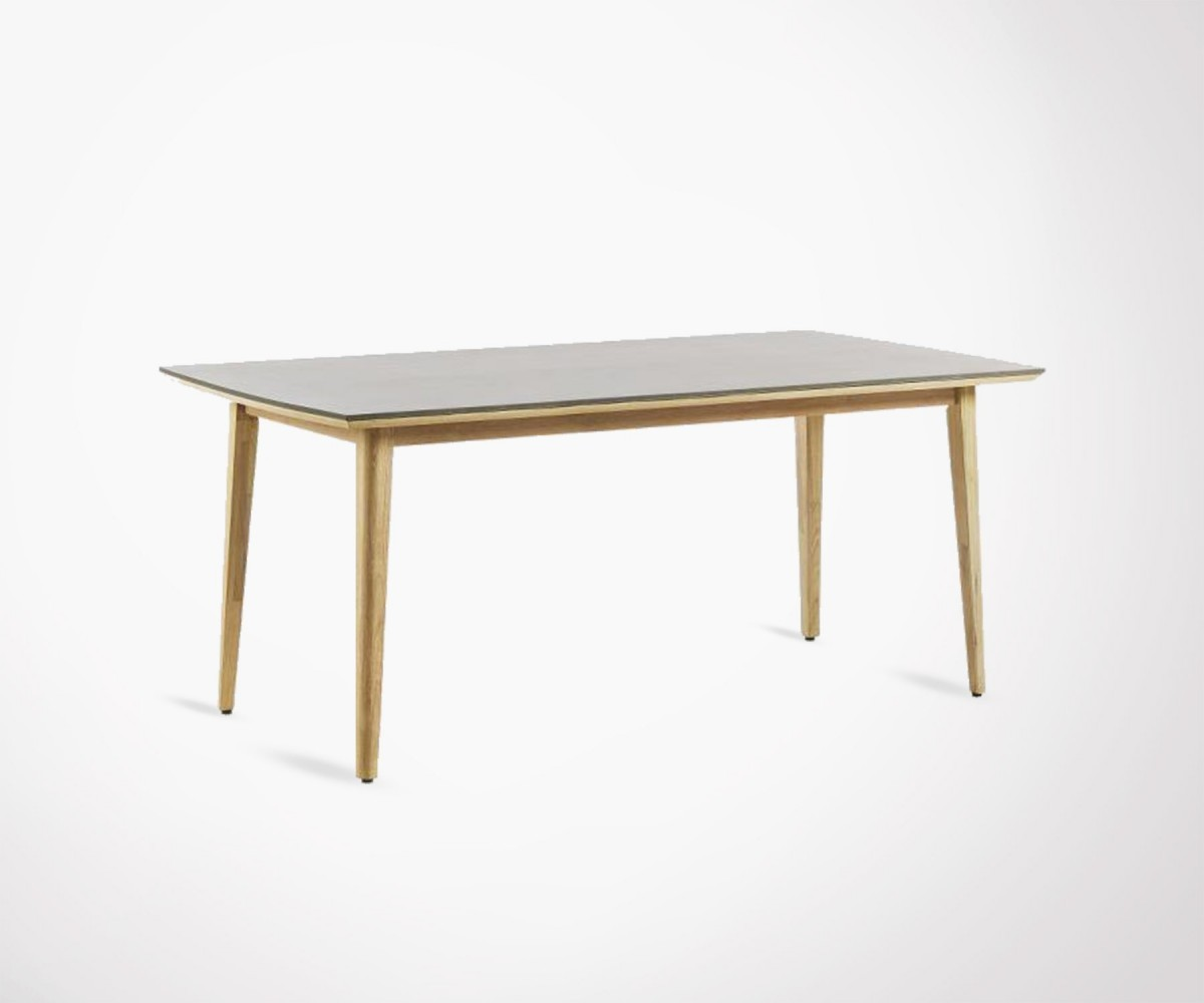 Grande table manger 200cm int rieur et ext rieur bois et for Grande table design