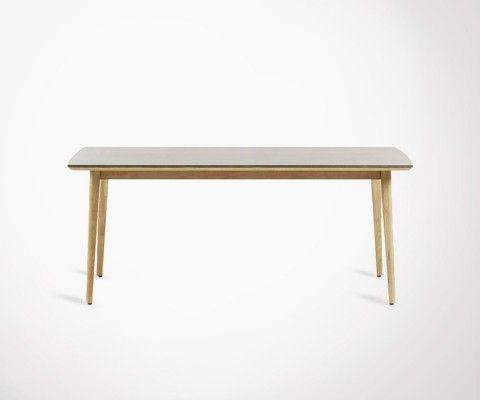 Table 200x100cm eucalyptus naturel KHLEA