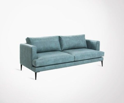 3 seater sofa 183cm upholstered fabric ANGELES