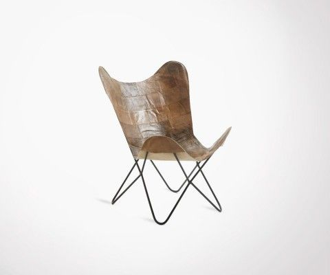 Butterfly armchair SMITH leather parts