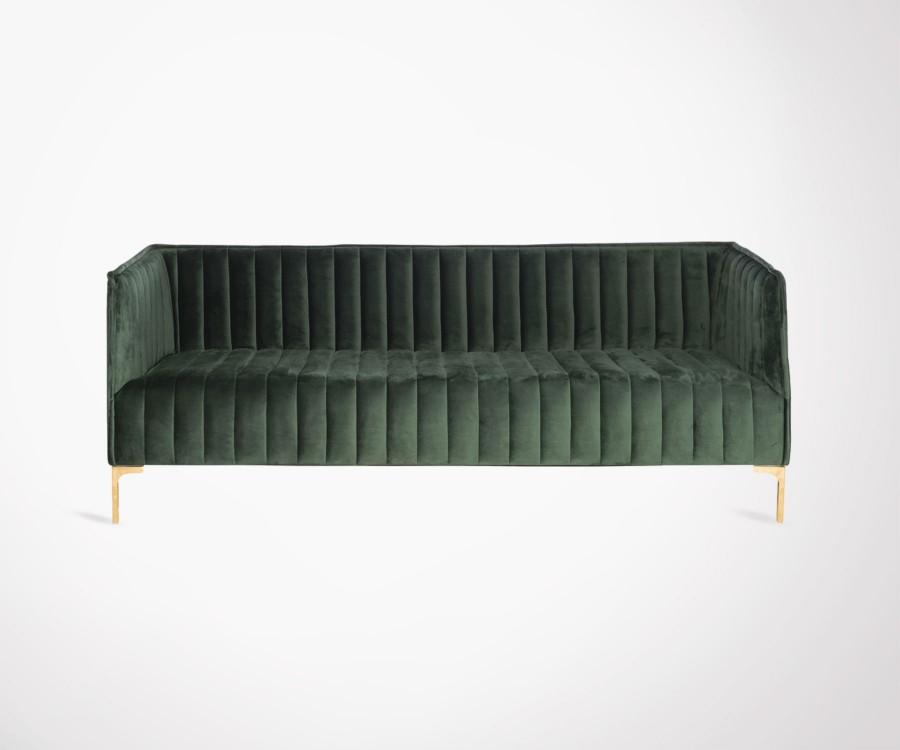 Canapé velours vert design BANDLE