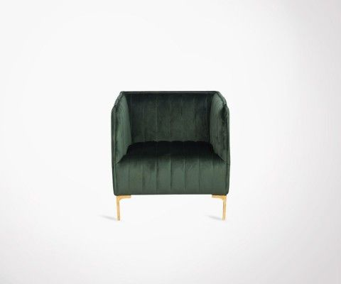 BANDLE dark green velvet design armchair