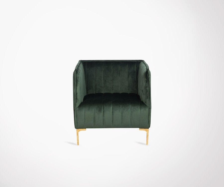 fauteuil salon velours vert fonc design marque j line. Black Bedroom Furniture Sets. Home Design Ideas
