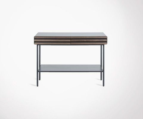 Console 120x84cm placage noyer PHILIPPE
