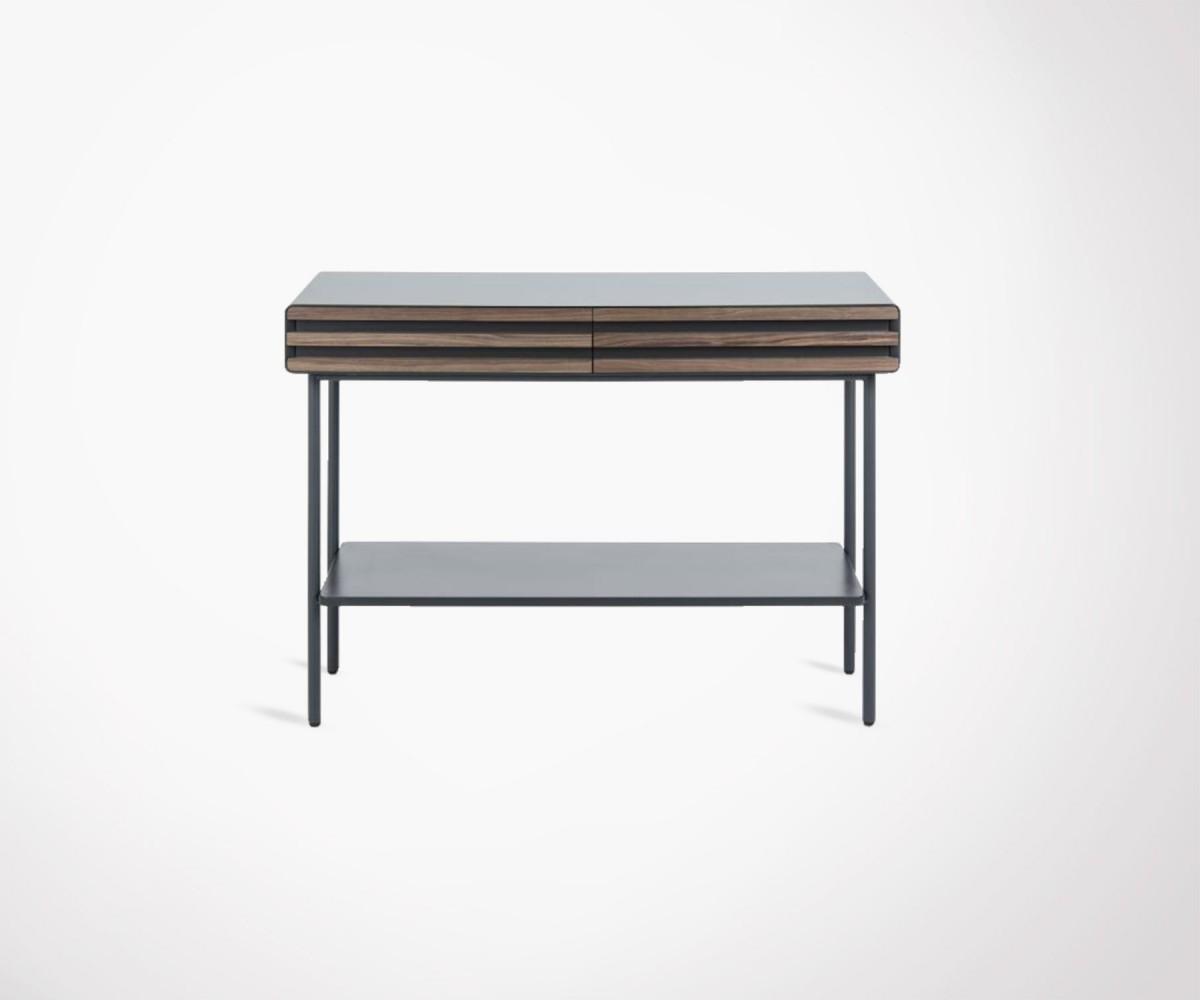 4681e62e7e6076 Console design noyer et métal graphite. Design et industriel