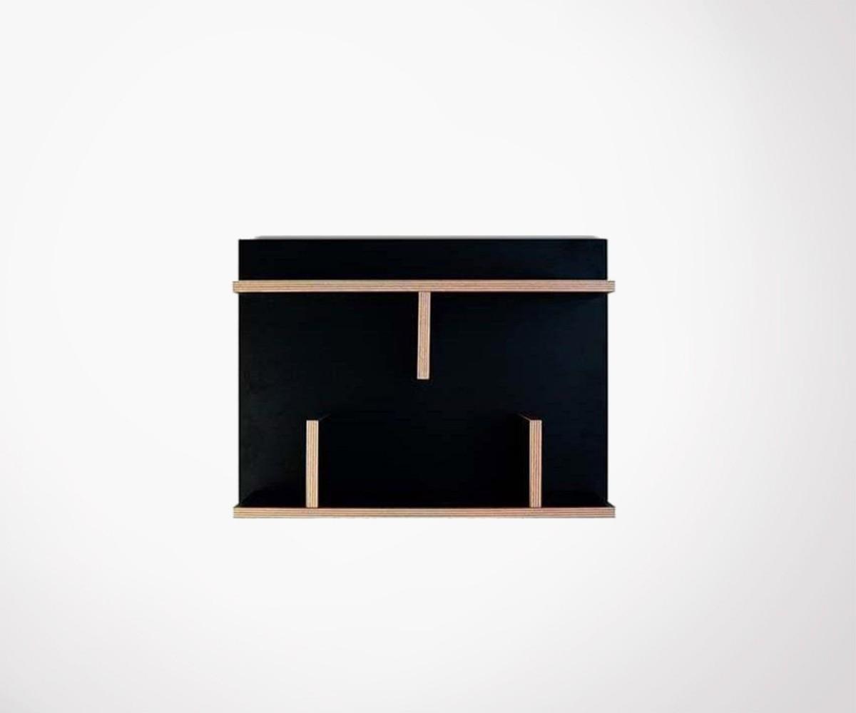 Petite étagère murale 60cm bois bern temahome loading zoom