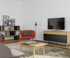Enfiade design 160cm moderne bois naturel et noir LIME