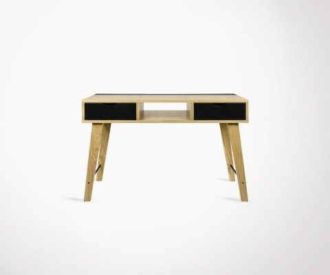 Modern design console 120cm natural wood and black LIME