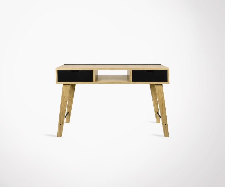 Console design moderne 120cm bois naturel et noir LIME